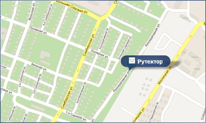 Схема проезда к РУТЕКТОР
